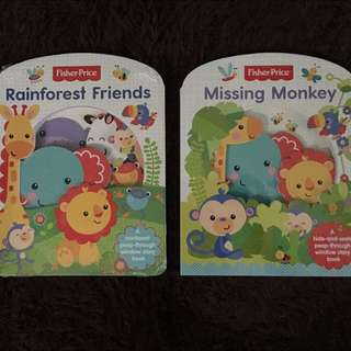 "Fisher Price Board Book ""Rainforest Friends"""