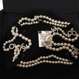Chanel 2017 Rome Limited Edition Long Pearl Necklace