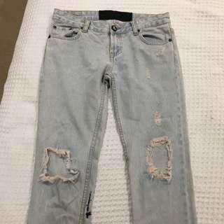 One teaspoon Light Denim Ripped Jeans