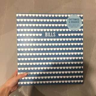 Kikki K Bill Organisation Book