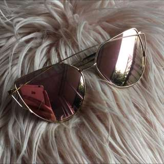 Gold Rose Sunglasses