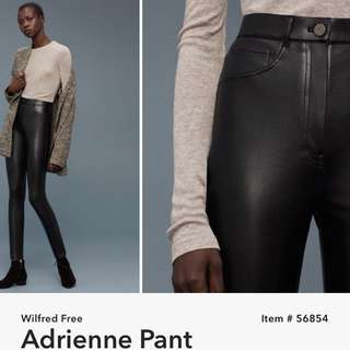 WILFRED FAUX LEATHER PANTS
