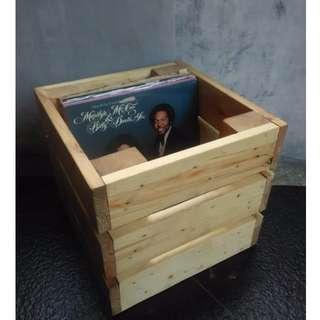 box kayu vinyl case, box piringan hitam