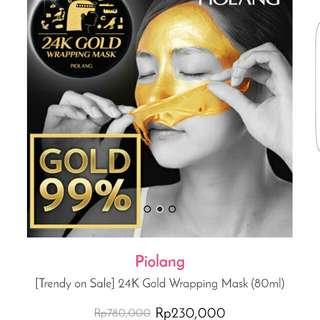 Piolang 24k Gold Wrapping Mask