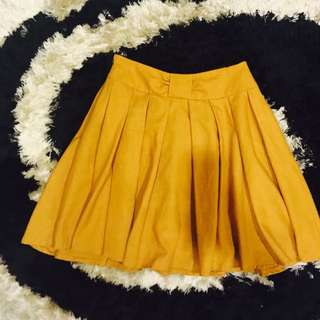Mustard Color Flare Skirt