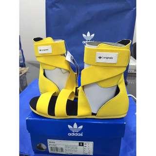 Adidas Mesoa 黄 YELLOW Girl's 愛迪達 涼鞋