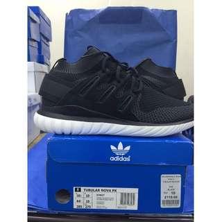 NEW Adidas Tubular Nova PK Primeknit Black S74917 愛迪達 黑白 襪套 編織 男鞋 黑武士