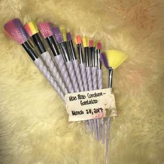 Unicorn Brush - yellow,pink, blue bristles