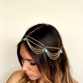 [RESERVED] Gold Boho Headchain