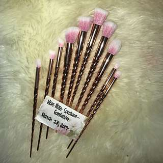 Unicorn Brush Set - Gold and pink