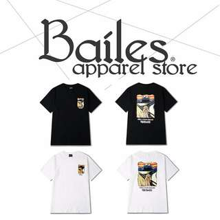 貝里斯Bailes【KS585】日韓版 / 男女款 趣味薑餅人惡搞梵谷圖案印花搭配棉質圓領短袖T恤
