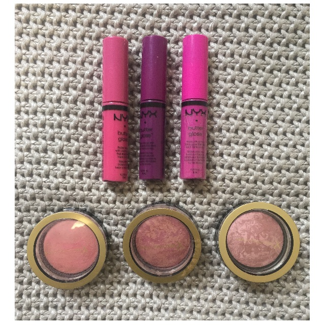 3x NYX Butter Glosses + 3x Max Factor Creme Puff Blushes