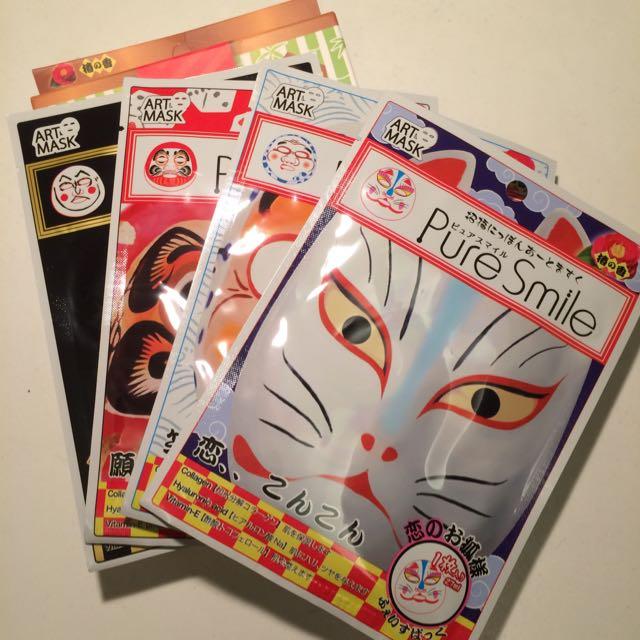 日本藝術面具面膜*4