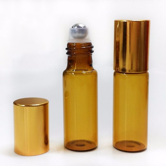 5mL Roll On Glass Bottle for Essential Oil (Metal ball) SET OF 7