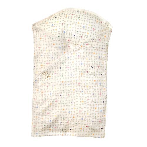 <限時特價> 日本直送 Hoppetta 10mois 彩色蘑菇軟墊包被 (白蘑菇)