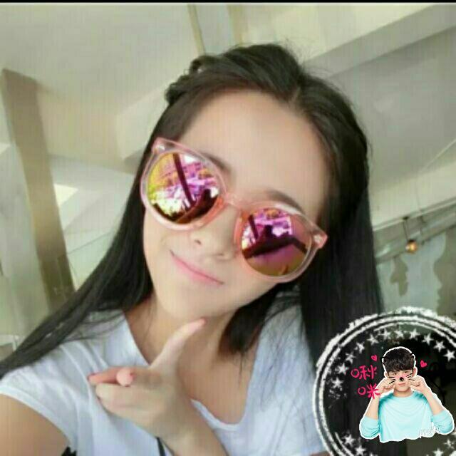 韓版透明彩膜墨鏡太陽眼鏡#UV400#透明白水銀#亮黑框全黑片