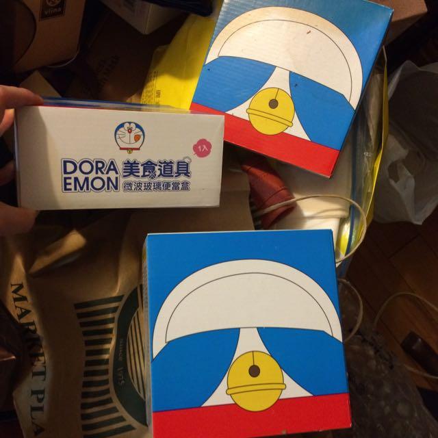 哆啦A夢 美食道具 微波爐玻璃便當盒