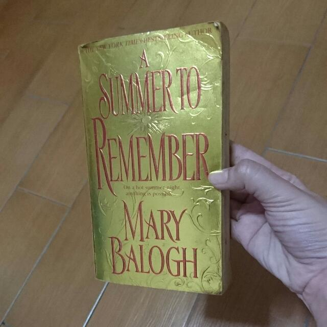 A Summer To Remember (by Mary Balogh)