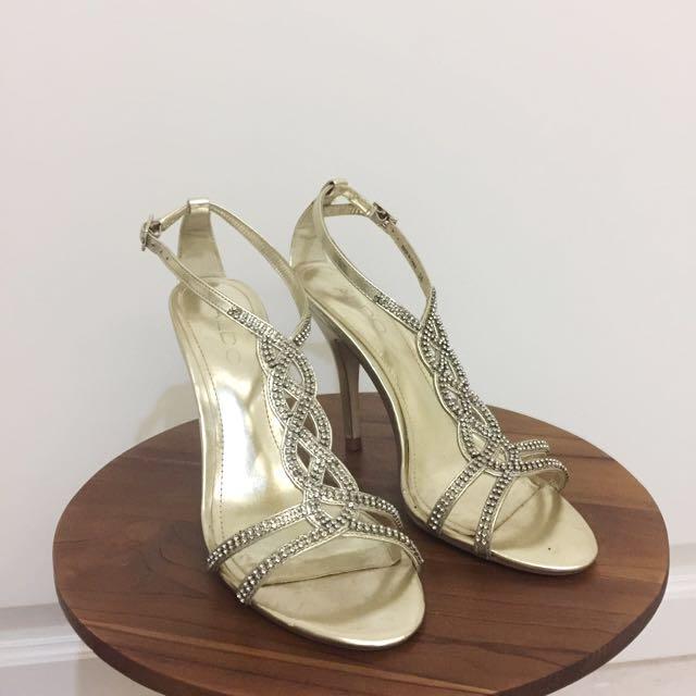 Aldo Gold Sandals - 36