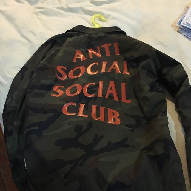 0bc15cc7410f Anti Social Social Club Coach Camo Jacket