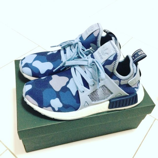 bd8013c652132 Authentic Adidas NMD XR1 Women's Duck Camo Blue (Midnight Grey/Noble ...