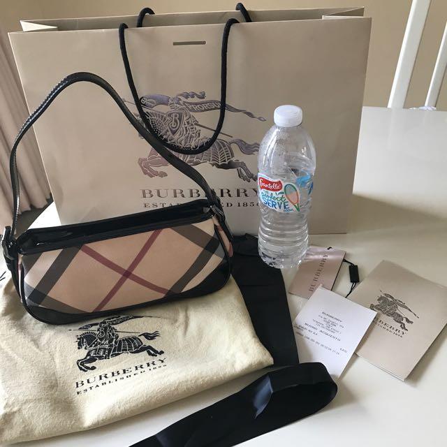 AUTHENTIC BURBERRY Nova Check Sling Bag