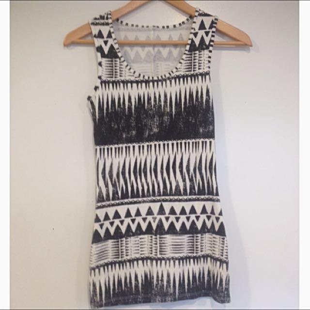 Aztec Short Dress
