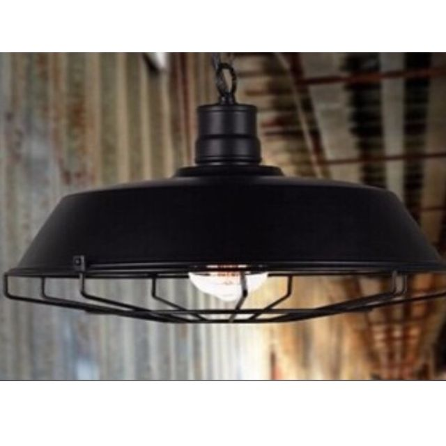 Black Wrought Iron Lamp