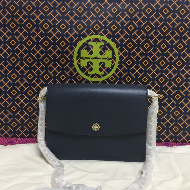 5cdccc5d8 BN Authentic Tory Burch Parker Convertible Shoulder Bag Tory Navy ...