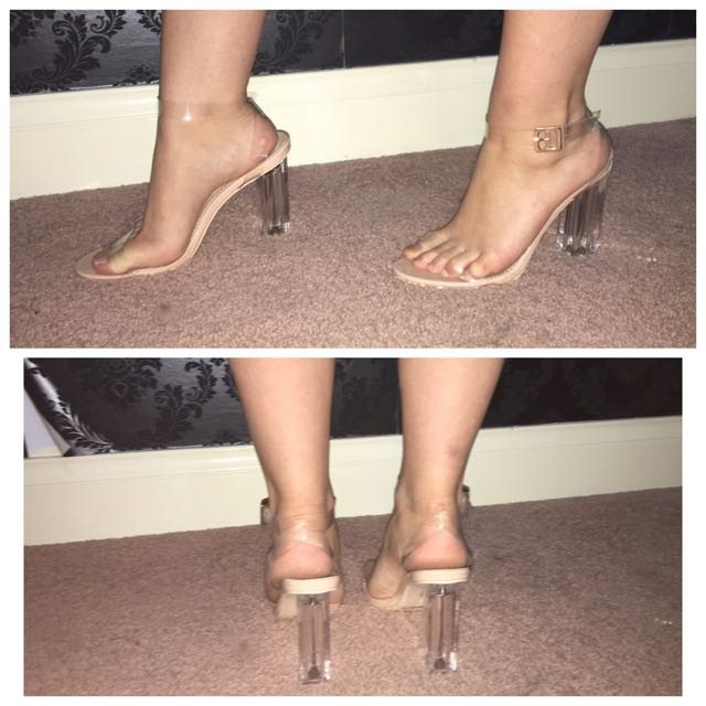 Clear Heels size 9
