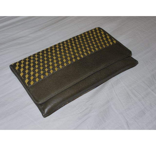 COLE HAAN Parker Weave Envelope Clutch Bag Genuine Leather