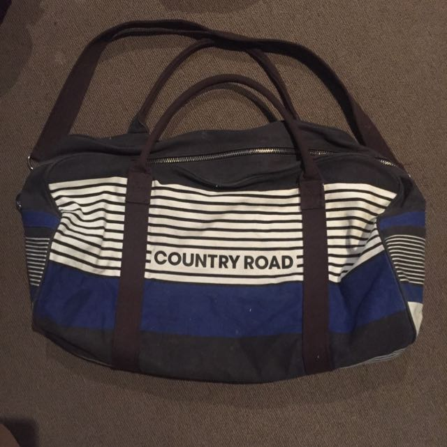 Country Road Canvas Tote Bag