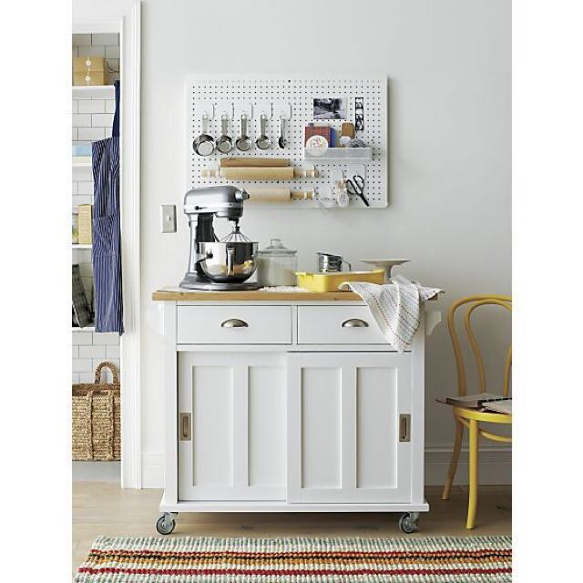 Crate Barrel Belmont Kitchen Island In White Home