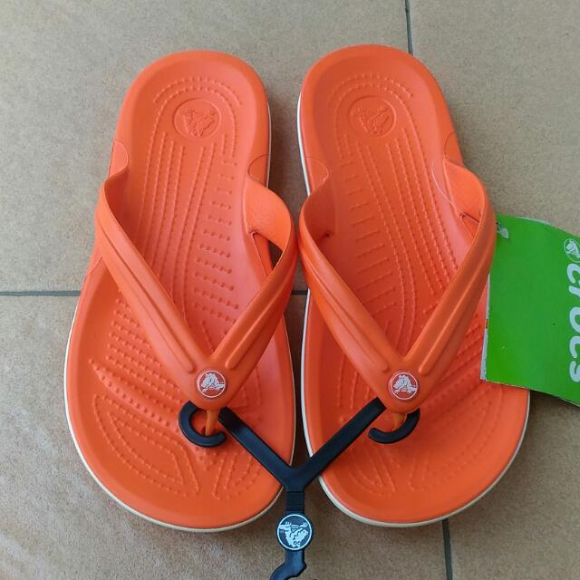 Crocs Sandals Orange White