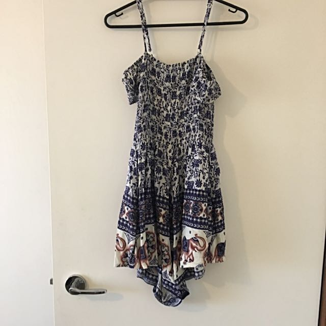 Elephant Print Playsuit