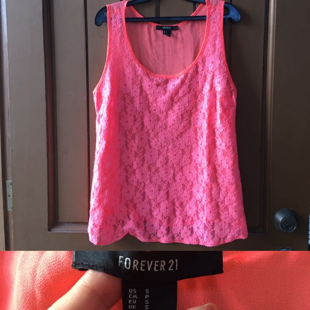 Forever 21 Lace Sleeveless Blouse