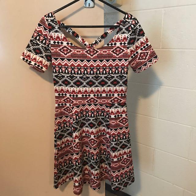 H&M Geometric Print Dress Size 6