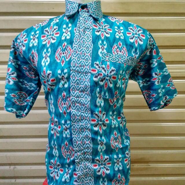 Kemeja Baju Batik Pria Kerja Kantor Seragam Ika Fashion Tanah Abang Murah d5d1664e7b