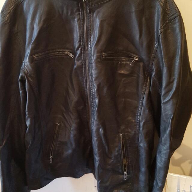 Mens XL Leather jacket