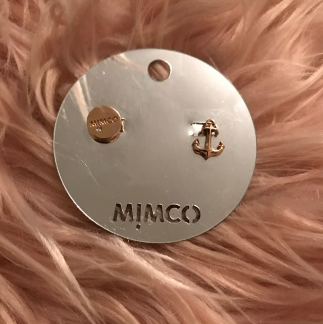 MIMCO Rose Gold Earrings ~ Authentic ~