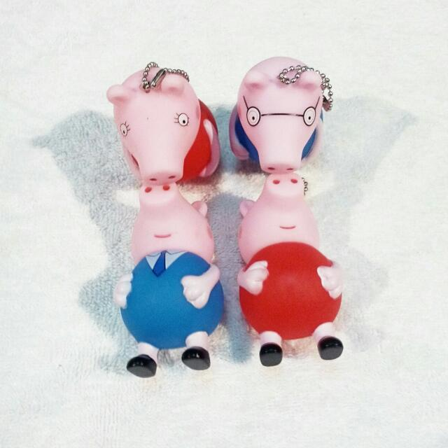 Mom & Dad Peppa Pig Keychain