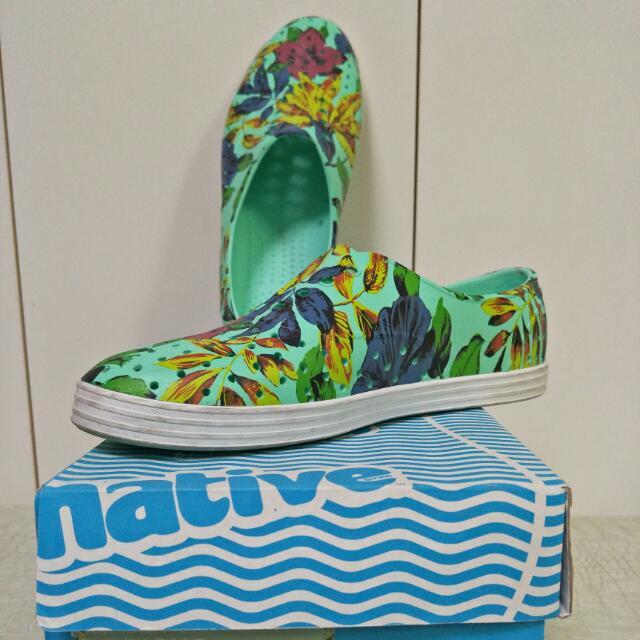 NATIVE 花朵便鞋