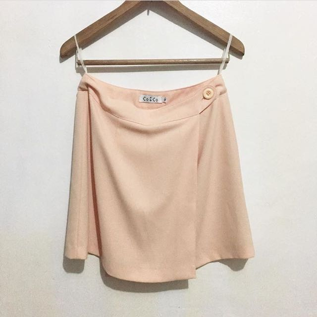 Peach wrap around skirt
