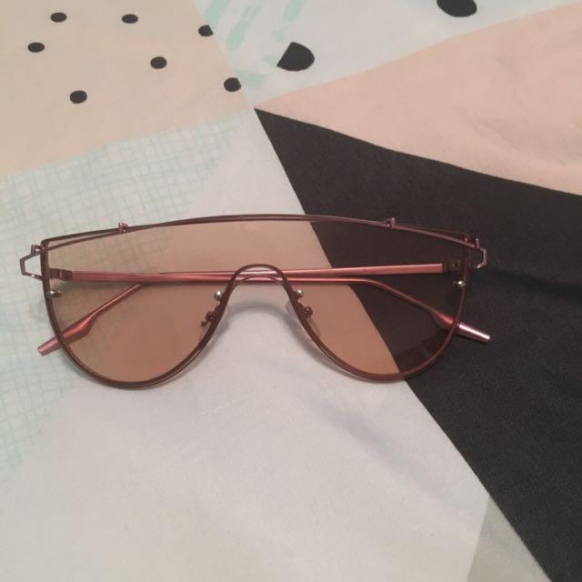 Pink Lense Aviator Style Sunglasses
