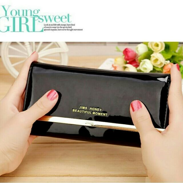 Shiny Wallet Black