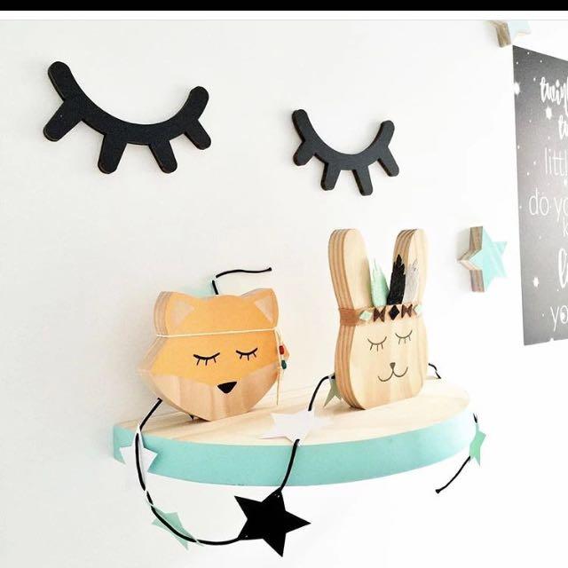 Sleepy Eyes Wall Decor For Baby Nursery/ Children's Room