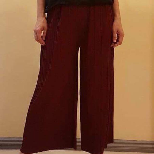 Tan Pleated Pants