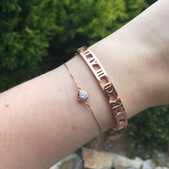 Two Rose Gold Bracelets from The Peach Box