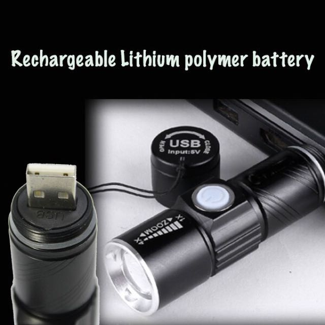 Ultra Bright USB Torch Light Bicycle Lampu Basikal, Sports, Bicycles on Carousell