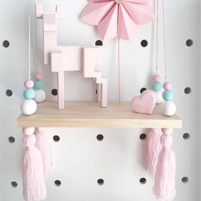 Wooden Swing Shelf Adorable For Baby Nursery/ Children's Room